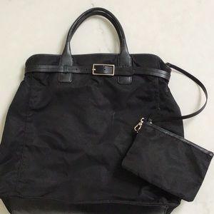 Handbags - Martin + Osa black nylon and leather tote bag